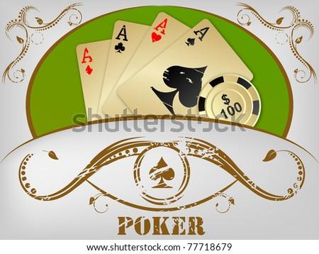 poker background - stock vector