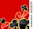 Poker background with symbols of cards for design. Jpeg version also available in gallery - stock photo