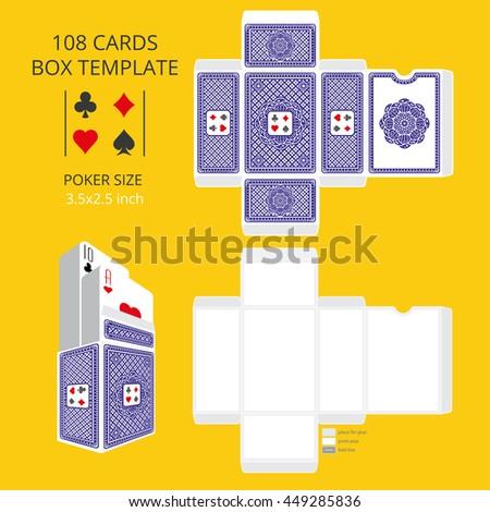 Poker Card Size Tuck Box Template Vector Stock Vector (2018 ...