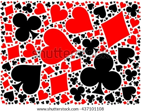 Poker card suits background