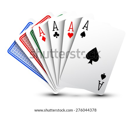 Poker cards - stock vector