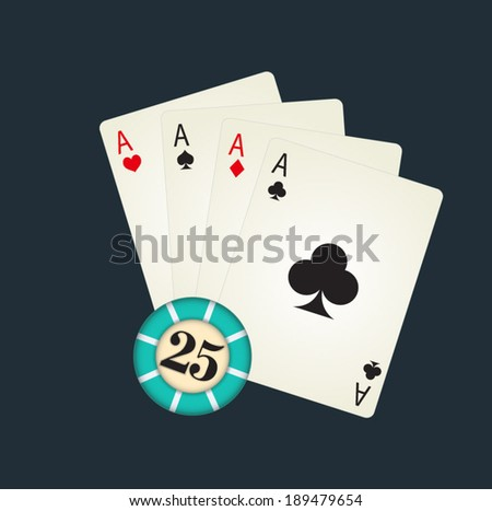 poker-cards with gambling.
