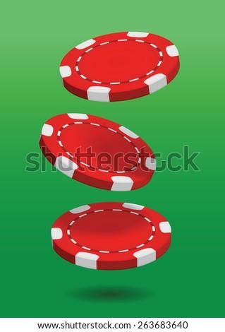 Poker chips. Vector illustration - stock vector