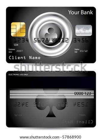 Poker club credit card design
