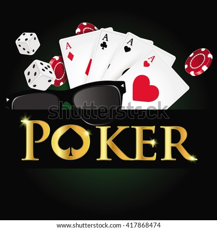 Poker design, cards and chips , casino games.