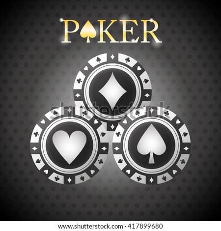Poker design, game and chips concept ,, casino games