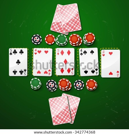 Poker gambling chips. casino elements - stock vector