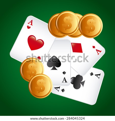 poker game  design, vector illustration eps10 graphic