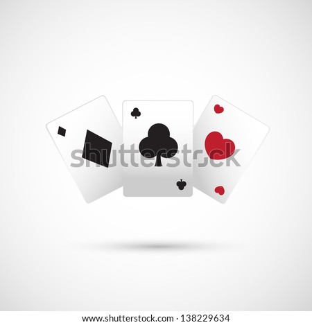 poker icon vector