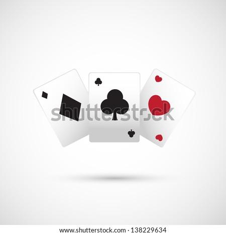 poker icon vector - stock vector