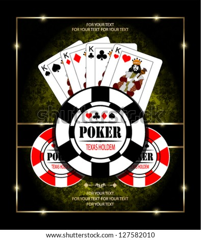 Poker Kings. Vector background. - stock vector