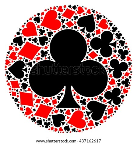Poker playing cards suit mosaic