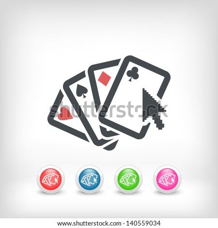 Poker website concept  icon - stock vector