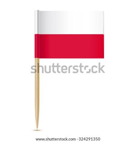 Poland flag. Flag toothpick - stock vector