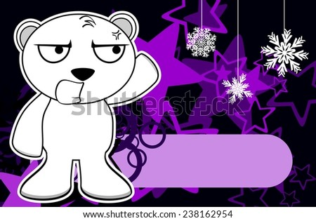 polar bear cartoon xmas background in vector format very easy to edit