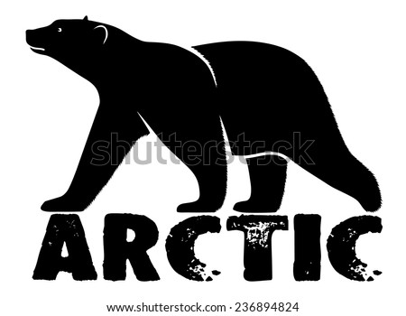 polar bear symbol  Arctic - stock vector