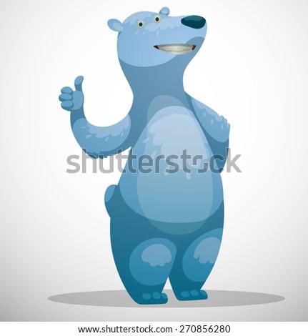 Polar bear, vector - stock vector