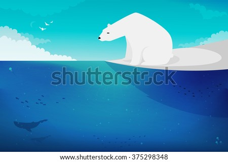 Polar Bear vector illustration - stock vector