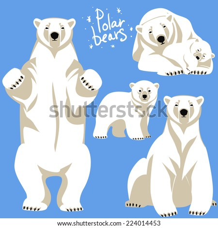 polar bear vector stock images, royalty-free images & vectors