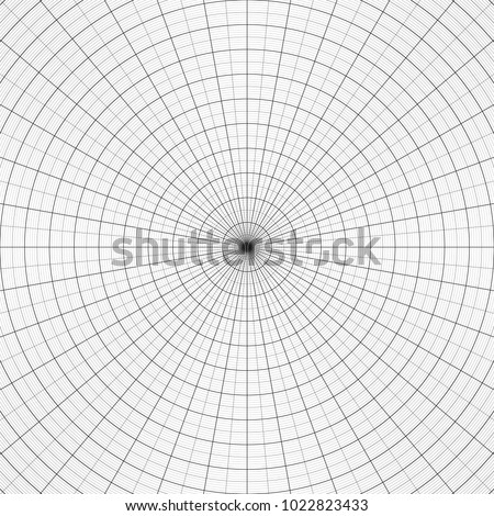 Polar Graph Paper Vtctor Illustration Concentric Stock Photo Photo
