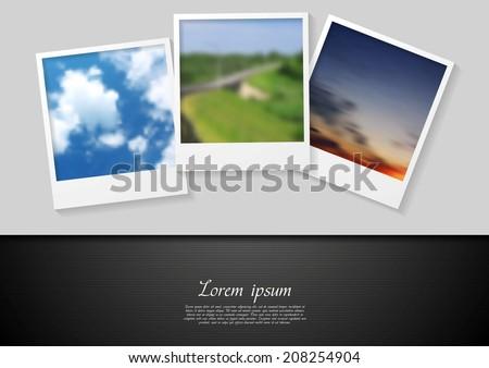 Polaroid photo abstract vector background - stock vector