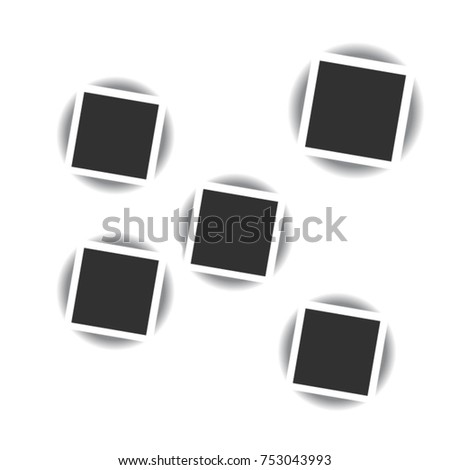Polaroid Photo Frame On Transparent Background Stock Vector ...