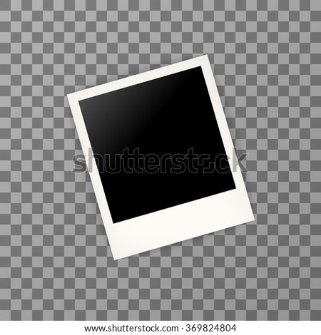 Polaroid photo frame with shadow - stock vector