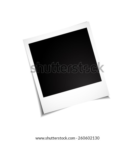 polaroid photo to your family photo album - stock vector