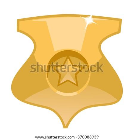 police badge cartoon illustration police badge stock vector hd rh shutterstock com police badge cartoon pic Police Badge Outline