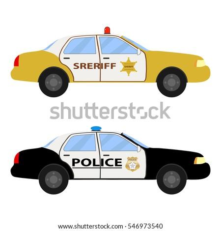Police Car Police Car Icon Cop Stock Vector 546973540 Shutterstock
