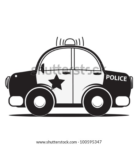 Police Car Silhouette Stock Images Royalty Free Images Vectors
