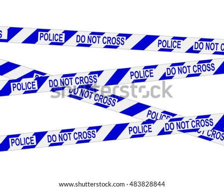 Police, do not cross. Crime scene barrier tape