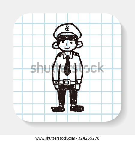 police doodle - stock vector