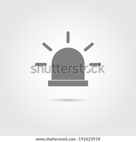 Police flat icon - Vector - stock vector