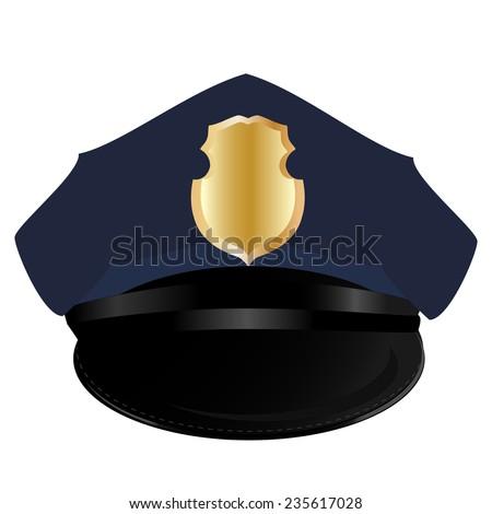 Police hat, police hat isolated, police hat vector, sheriff - stock vector