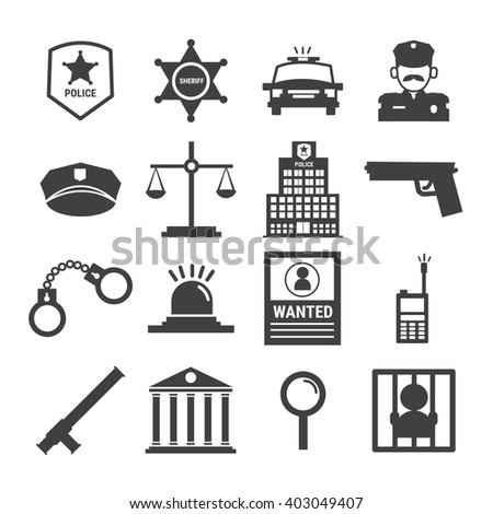 Police Icon Stock Photos - People Images - Shutterstock