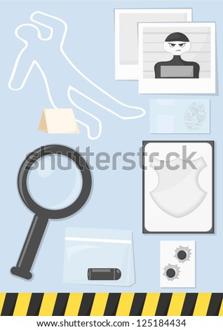 police investigation icons - stock vector