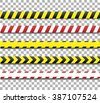 Police line and danger tape. Caution tape - stock vector