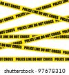 Police line. Do not cross. Crime scene vector background. - stock