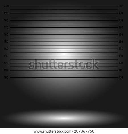 Police lineup or mugshot background - dark version - stock vector