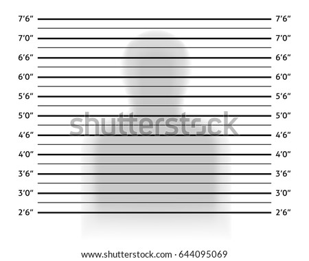 Police Lineup Mugshot Background Anonymous Shadow Stock Vector ...