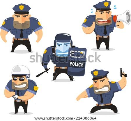 Friendly Police Officer Clip Art