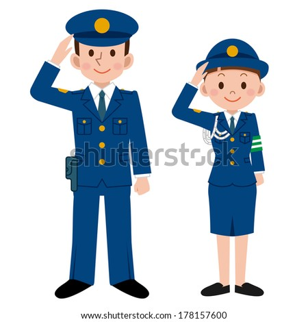police officers - stock vector