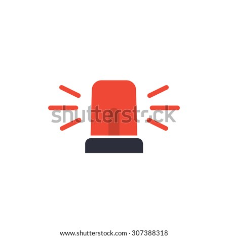 Police or ambulance, emergency siren icon. - stock vector