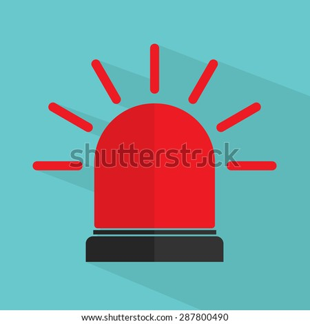 Police or ambulance siren - stock vector