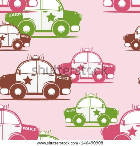 Police seamless pattern. Vector illustration - stock vector
