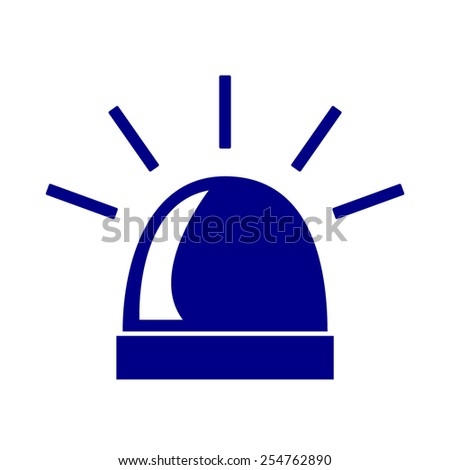 Police single blue icon isolated. Vector - stock vector