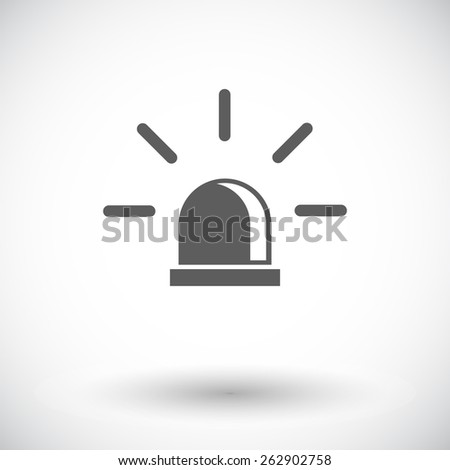 Police. Single flat icon on white background. Vector illustration. - stock vector