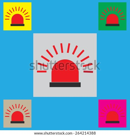 Police single flat icon. Vector illustration.  - stock vector