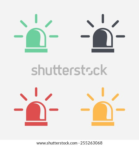 Police single icon. - stock vector